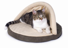 Thermo-Kitty Hut™ Heated Cat Bed