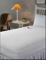 Safe Low Voltage -                                           Microplush Heated Mattress Pad